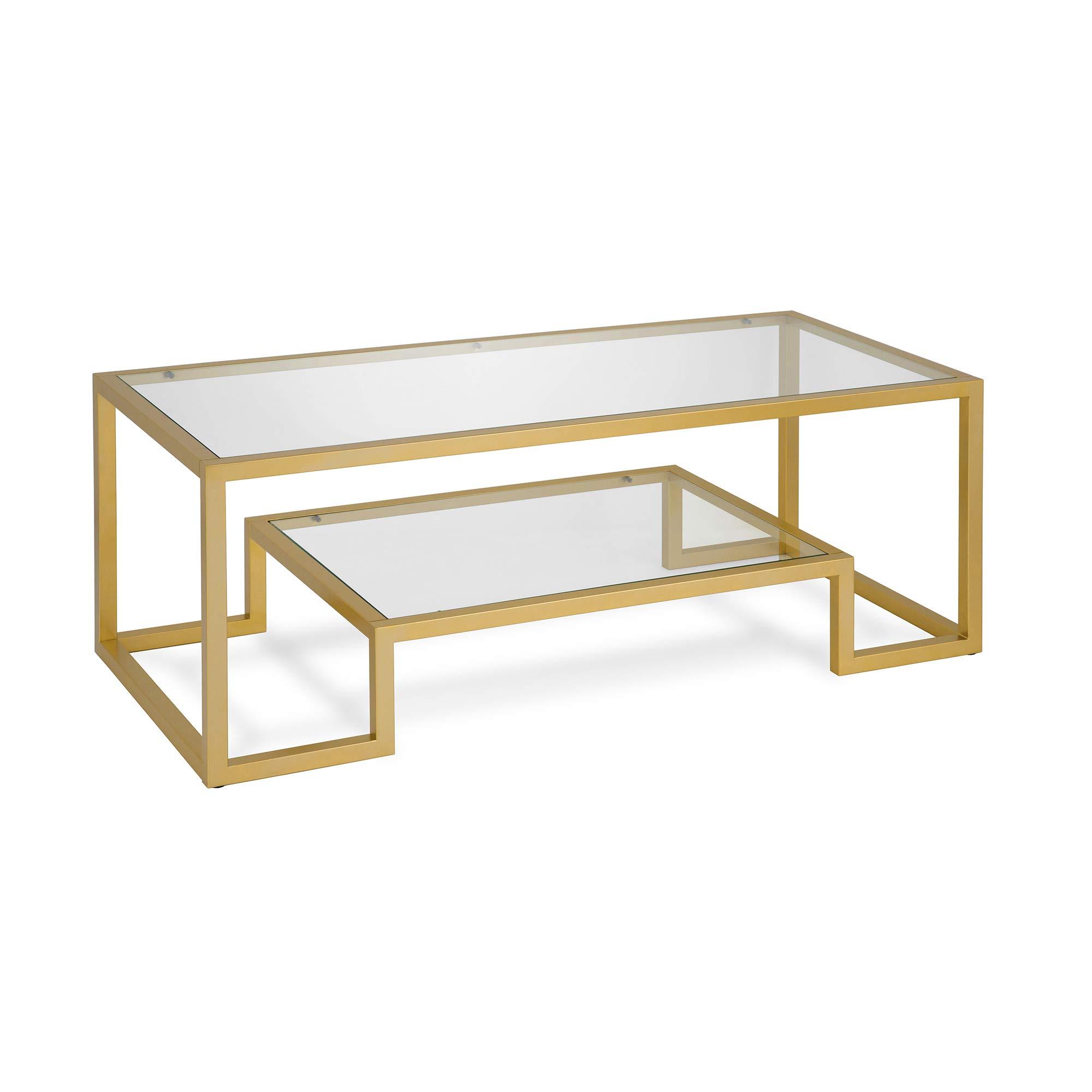 Henn&Hart Coffee Table, One Size, Gold by Henn&Hart