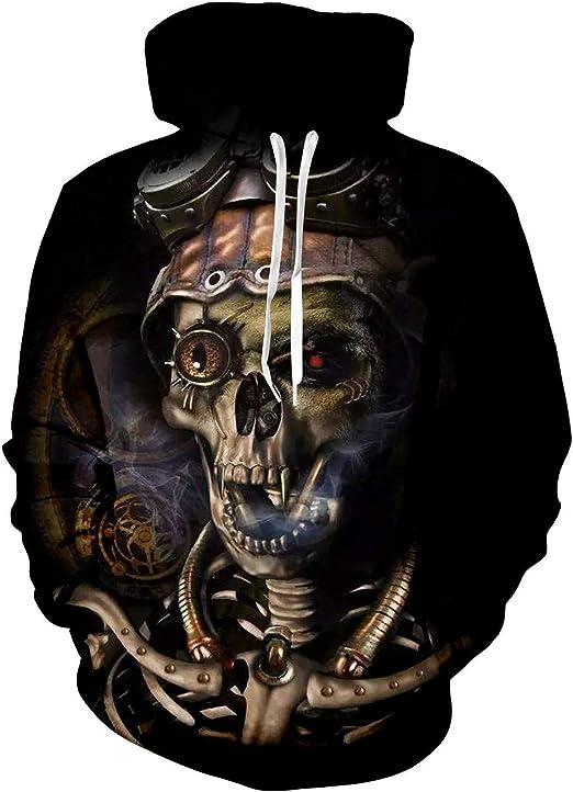 Fashion Men//Women's Skeleton 3D Print casual Sweatshirt Hoodies Pullover