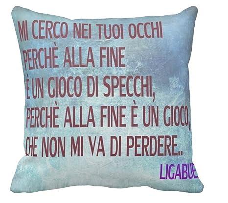 Pillow Pillow Cuscino Personalizzato 40x40 Frase Canzone Luciano