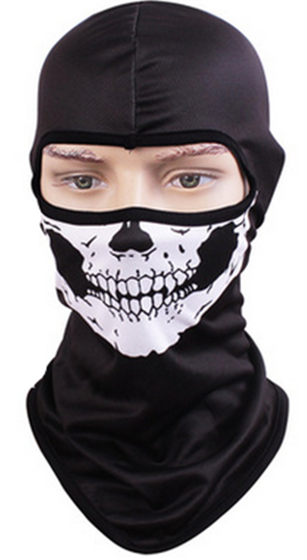 Quick Drying Breathable Mask, Men and Women Personality, Outdoor Riding, Sunscreen, CS Headgear, Animal Mask, Masked Hat(skull)