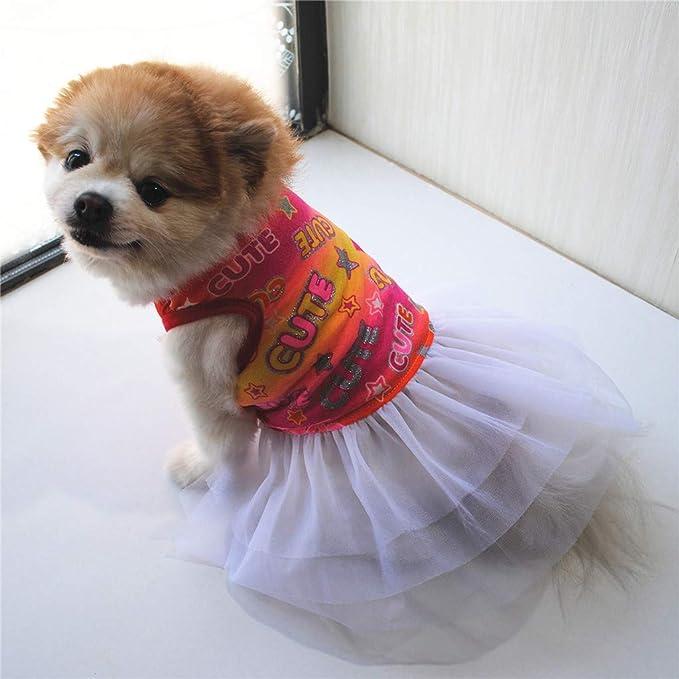 Geilisungren Ropa para Mascotas Perros pequeños Princesa Vestido ...