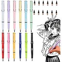 Opakowanie 6 ołówków beztuszowych, technologia nieograniczonego pisania, wieczny ołówek, bez atramentu, przenośny ołówek…