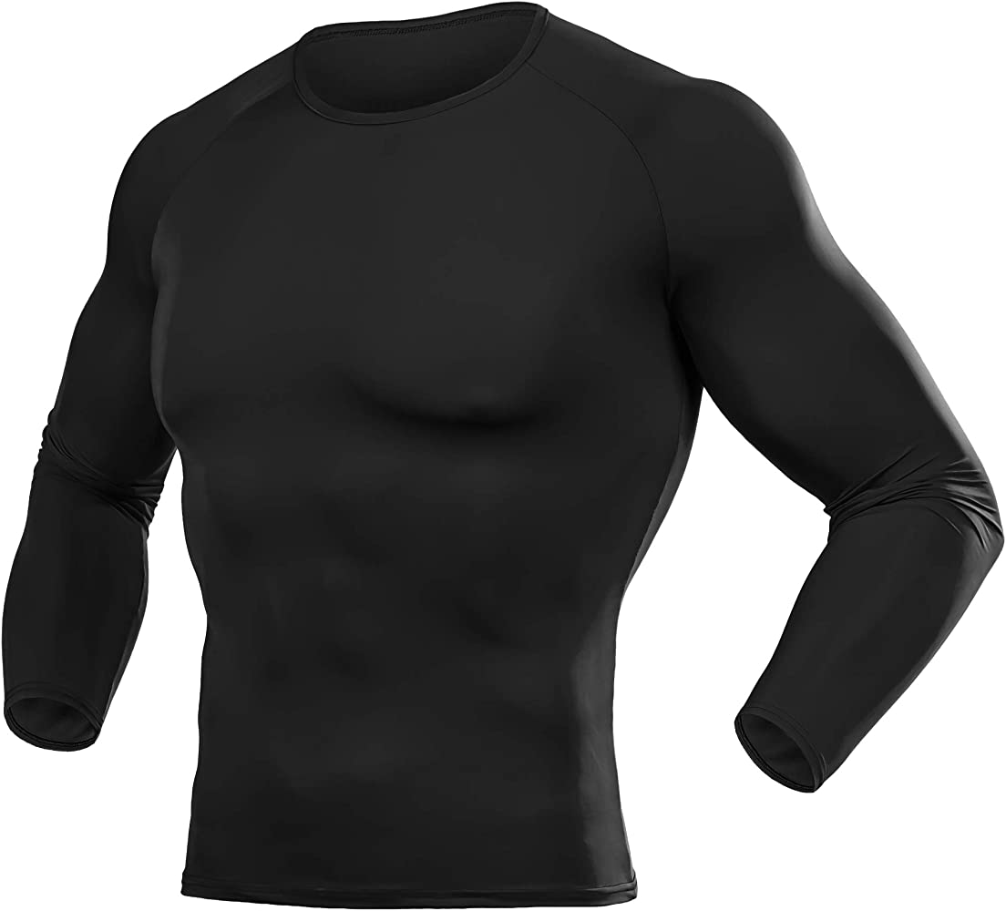 Mens Compression Top /& Legging Armour Base Layer Long Sleeve Thermal Gym Shirt