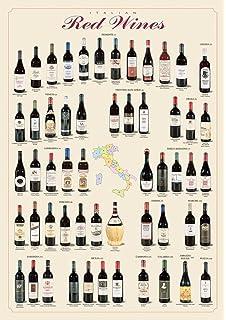 Empire 536693 - Poster educativo sui vini italiani, 68 x 98 cm ...