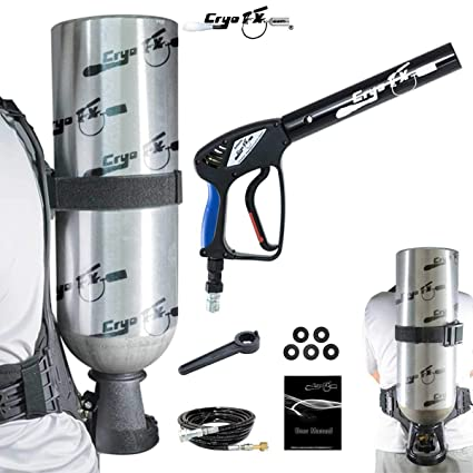 Amazon.com: cryofx Cryo Pistola + Mochila de CO2 + – Tanque ...