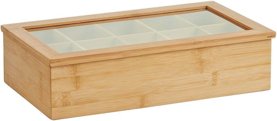 Zeller - Caja para Bolsas de té, Color marrón: Amazon.es: Hogar