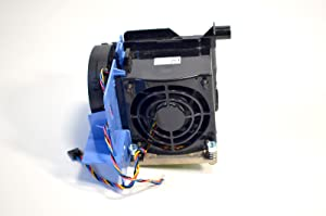 New Genuine OEM DELL Precision T5500 Desktop 2nd CPU Internal Cool Copper Processor Blower Housing Temperature Control Plastic Shroud Power Cable Attachment Bracket Assembly Performance W567F F306F Heatsink W715F Shroud