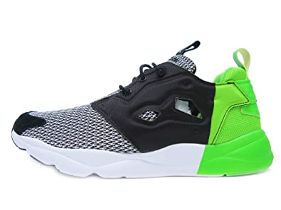 73c9e05c010fcb Reebok Furylite Mens (Black Scale) in Black Solar Green