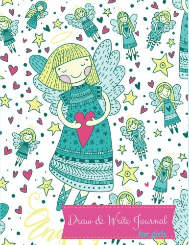 (Draw And Write Journal For Girls: Kids Journal To Draw And Write In: Childrens Story Writing Lined Journal Diary Notebook with Blank  Drawing Boxes to ... Kid Journals. Blue Doodle Angel Cover.)