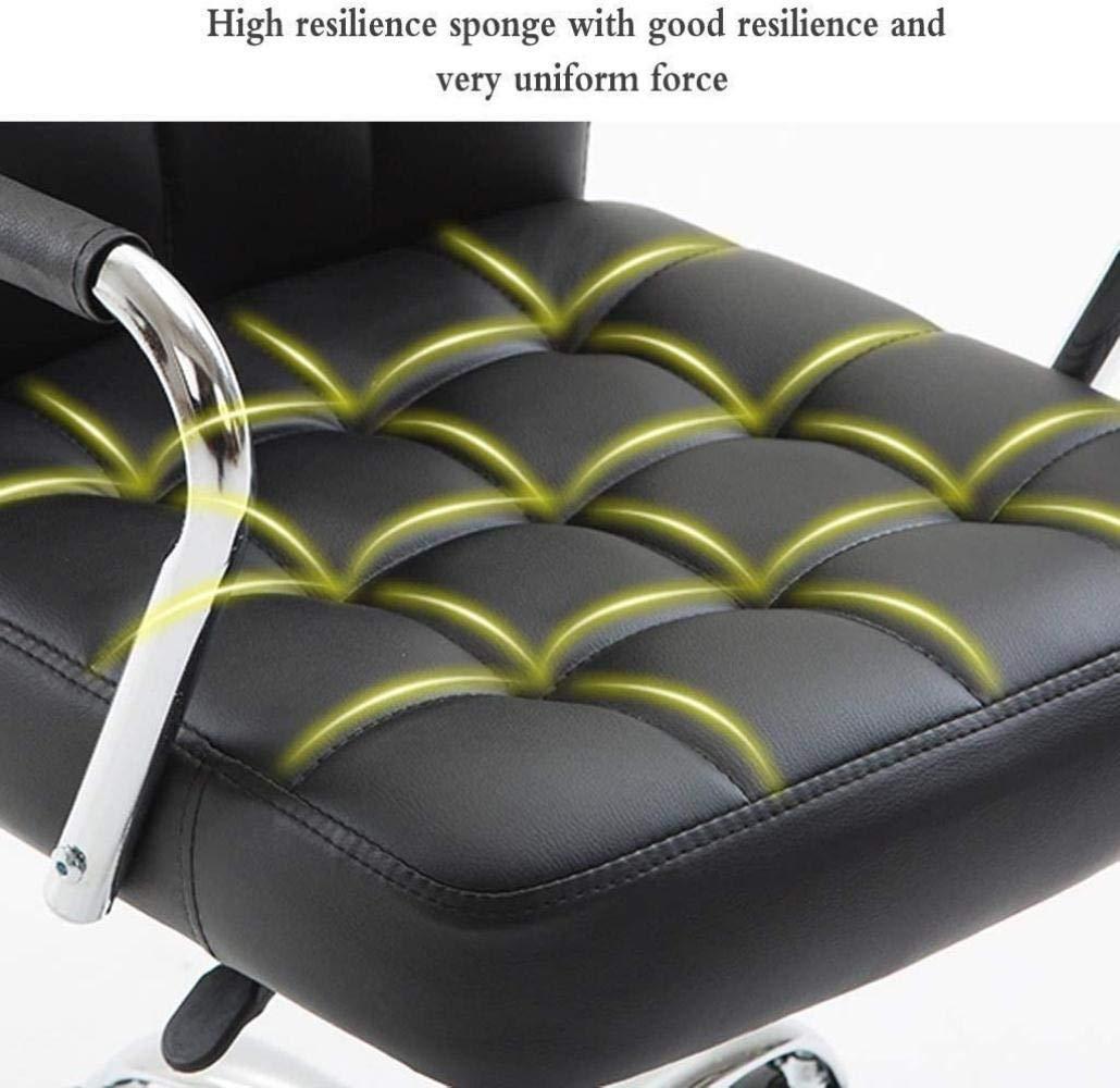 Skrivbordsstolar, kontorsstol skrivbordsstol ergonomisk dator stol armar rullande svängbar verkställande stol ryggsmärta knästol (färg: Brun) Brun