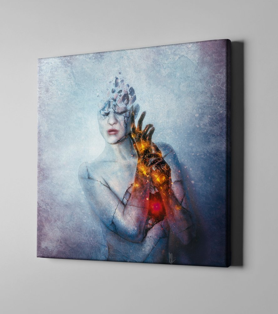 Cortesi HomeUntil You Break by Mario Sanchez Nevado Giclee Canvas Wall Art 37 x 37 Blue