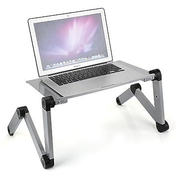 GOTOTOP - Mesa para Ordenador portátil, Altura Ajustable, Soporte para portátil, Bandeja para sofá o Cama: Amazon.es: Hogar