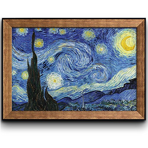 Starry Night by Vincent Van Gogh Oil Painting Impressionist Artist Framed Art
