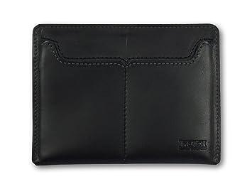 bas prix 965cc e89f5 Portefeuille en cuir Noir ultra-plat crée pour les français et leur carte  d'identité gigantesque. Porte-cartes en cuir fin