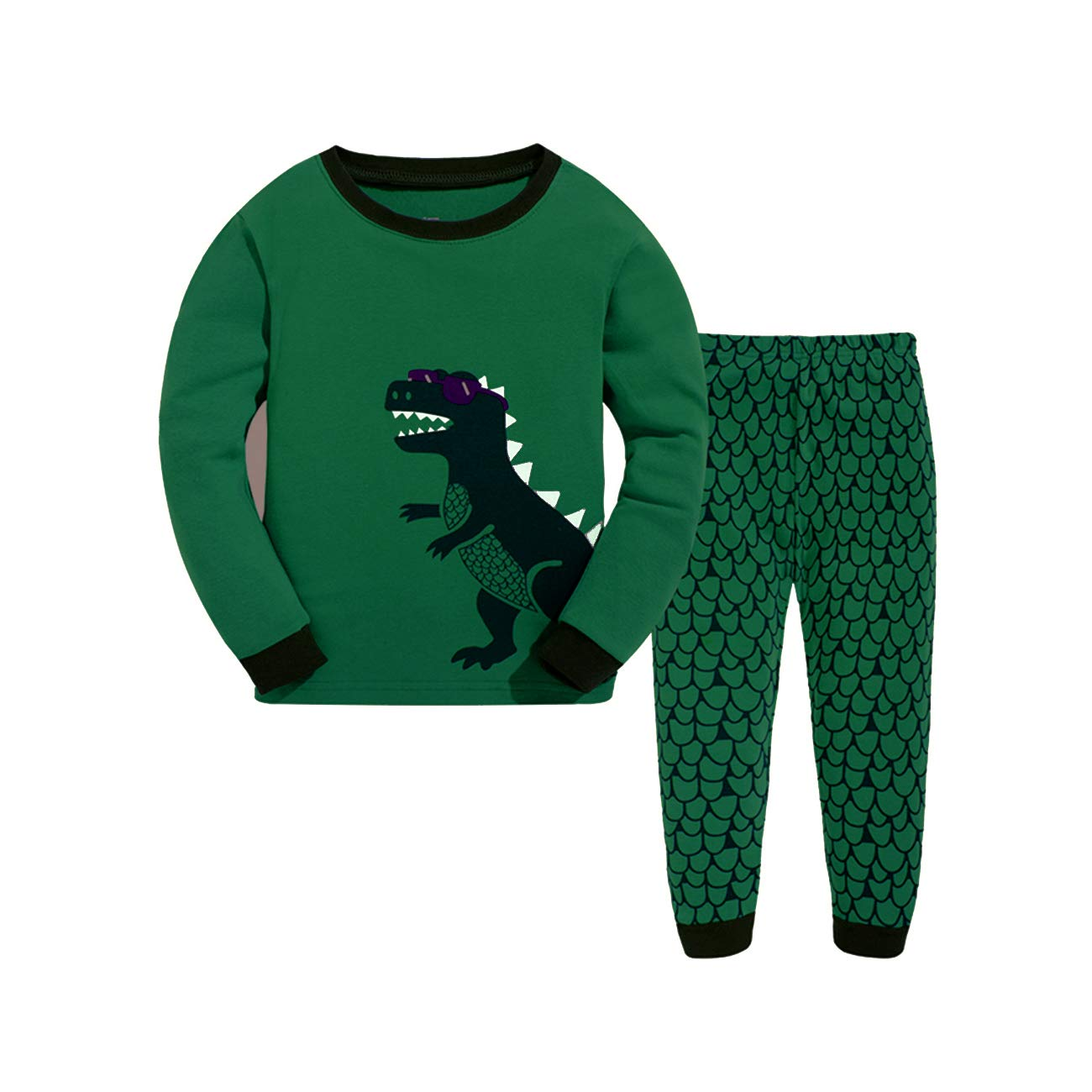 Older Boys Christmas Pyjamas Dinosaur Nightwears Sleepwears Long Sleeve Pjs Set for Kids Toddler 7-8 Years 8T