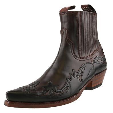 Sendra Boots 11699 Blanco Negro Schnürstiefelette für Damen Schwarz Weiss Damenstiefelette, Groesse:41