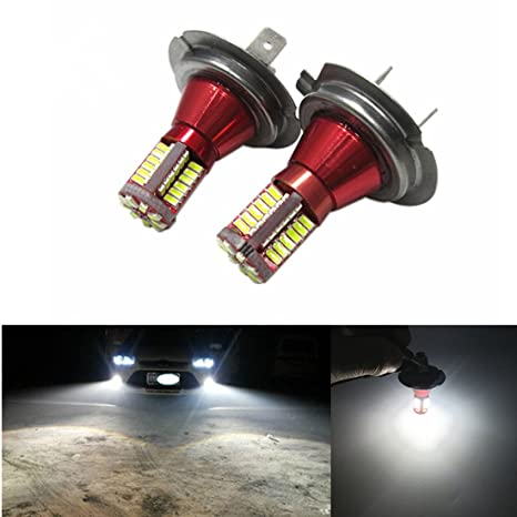 FEZZ LED Bombillas de Coche Auto LED H7 3014 57SMD Lamparas Iluminación Para faros antiniebla DRL