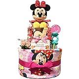 出産祝いに大人気! ディズニー ミニーのおむつケーキ/赤ちゃんの内祝い・誕生日プレゼント ギフトセット ダイパーケーキ/女の子 (パンパースS20 (出産祝い用に))