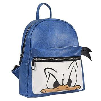 Mochila Casual de Disney Inspirada en el Pato Donald con Licencia Oficial para Jóvenes o Adultos, Medidas 22 x 25,5 x 11,4 cm Color Azul: Amazon.es: ...