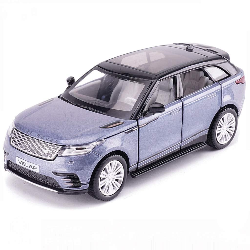 DUWEN-Modello di auto Land Rover Fuoristrada Modello 1 32 Modello in Lega di emulazione Giocattolo Modello di Auto statico Modello Sound And Light Pull Back Model Car (colore   Blu)