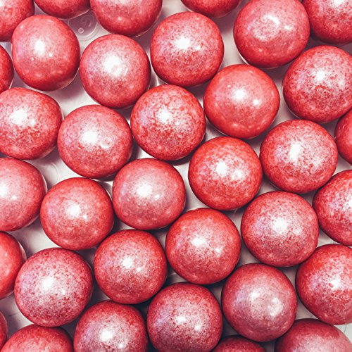 Large 1 Shimmer Coral Gumballs - 2 Pound Bags - About 120 Gumballs Per Bag - Includes How to Build a Candy Buffet -