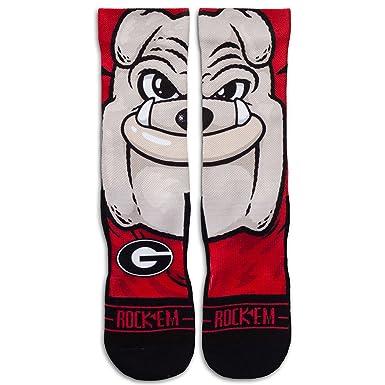 Rockem Apparel University of Georgia Bulldogs Custom Athletic Crew Socks