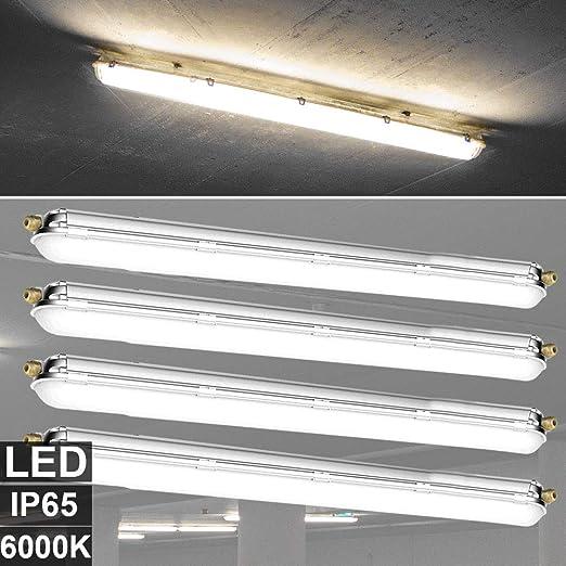 6x SMD LED 48 Watt Decken Wannen Lampen Tankstellen Beleuchtung Außen Leuchten