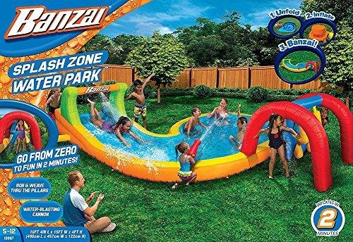 (Banzai Splash Zone Water Park (Outdoor Backyard Summer Spring Aqua Splash Slide))
