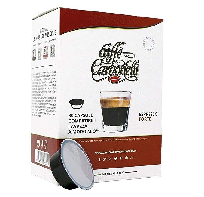 120 Cápsulas compatibles Lavazza a modo mio - Caffè Carbonelli mezcla fuerte
