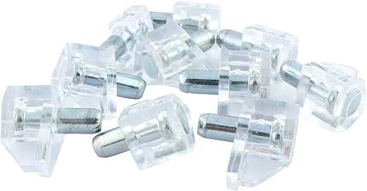 20 Pack Rok Hardware 5mm Clear Shelf Support Bracket Steel Pin Peg Kitchen  Cabinet Book Shelves Holder