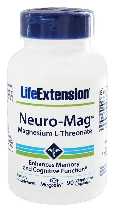 Life Extension - Magnesio L-Threonate de Neuro-Mag - 90 cápsulas vegetarianas: Amazon.es: Salud y cuidado personal