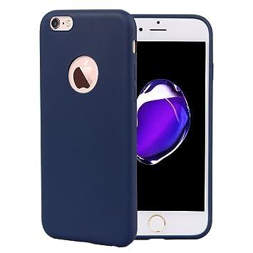 Leton Funda iPhone 6s Silicona Suave Flexible TPU Móvil Carcasa Apple iPhone 6 Ultra Delgado Ligero Mate Gel AntiChoque Candy Goma Cubierta Case ...