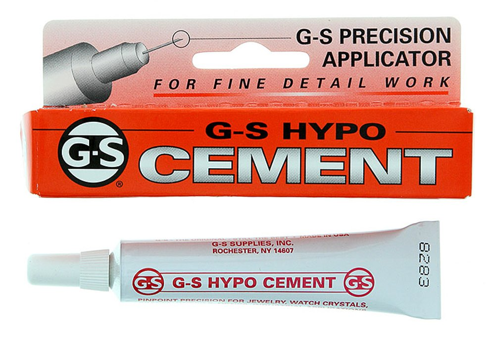 GS Supplies G-S Hypo Cement, Transparent