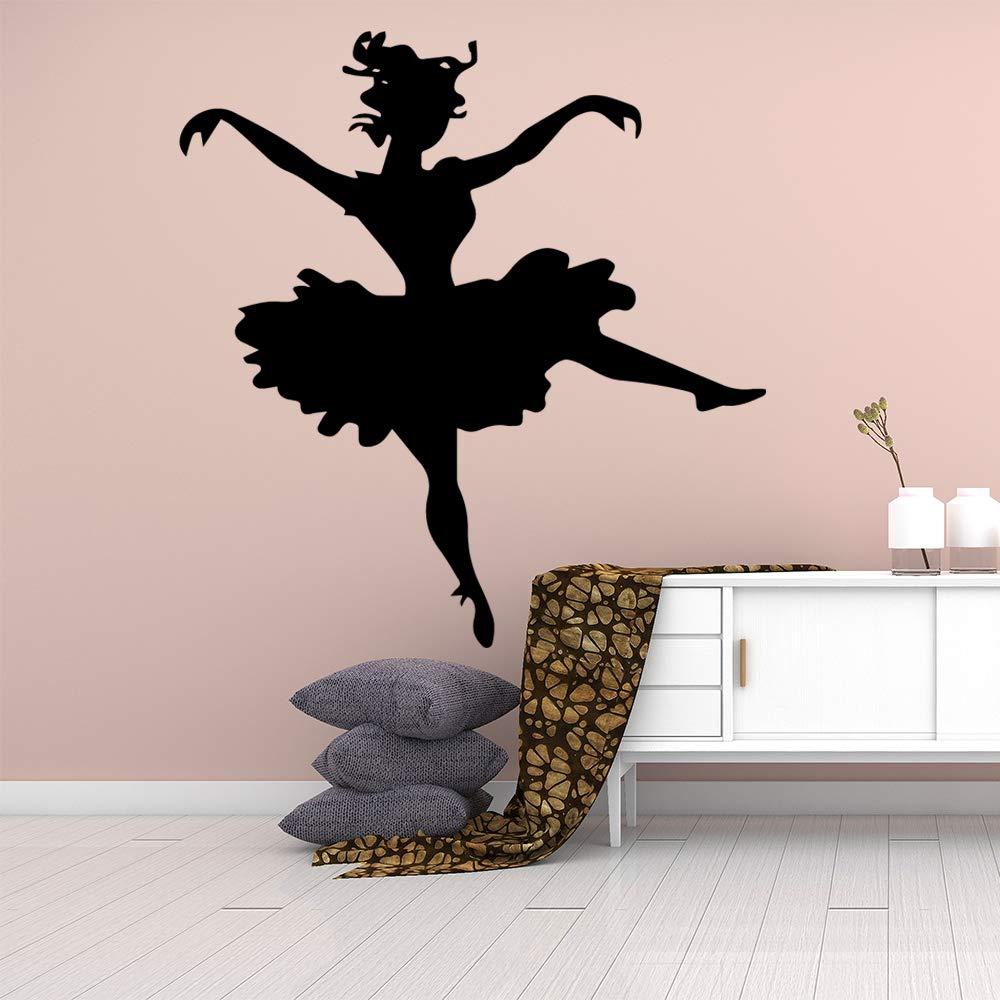 Amazon Com Sakhd Cute Dancing Woman Self Adhesive Vinyl Wallpaper Wall Decorations Living Room Room Decoration Creativas Para 42x88cm 43x93cm Baby