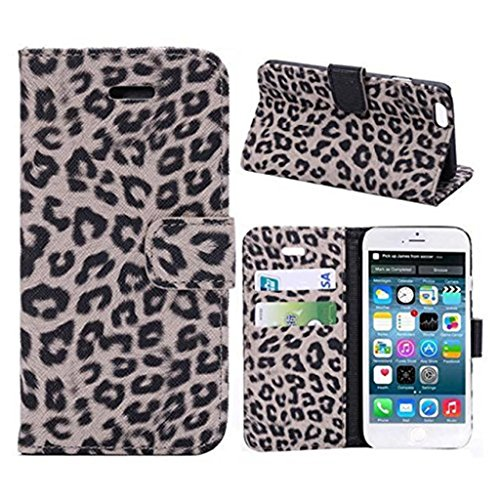 iPhone 6 Hülle,Apple iPhone 6 Hülle (4.7 Zoll) Lifetrut®[Leopard 2 #] Flip Case mit lebenslanger Garantie + Kartenfächern & Standfunktion