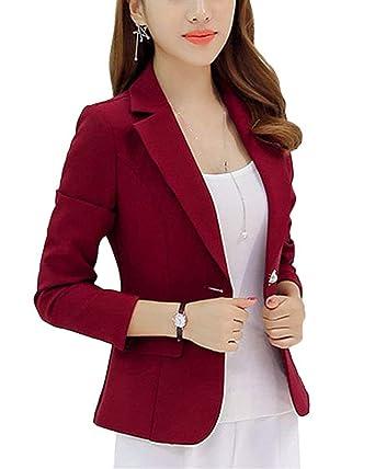 Para estrenar a3598 09c01 Americana Mujer Elegantes Slim Fit Negocios Oficina Blazer ...