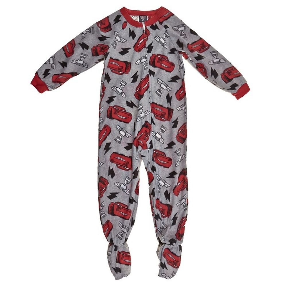 Disney Pixar Cars Boy's 3T Lighting McQueen Trophy Print Footed Pajama Sleeper