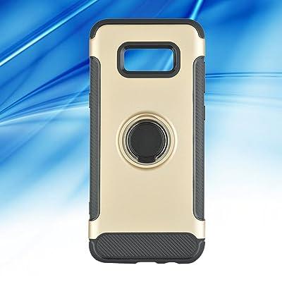 Caja de teléfono Híbrido Resistente con Soporte para Anillo Silm Fit 360 ° de Rotación a Prueba de Golpes Excelente Agarre antiarañazos Shell para Samsung