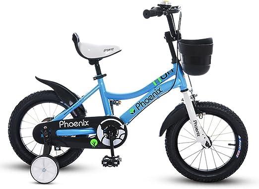 Fenfen Bicicletas para Niños 18 Pulgadas Chicas Bicicleta 5-6 Años ...