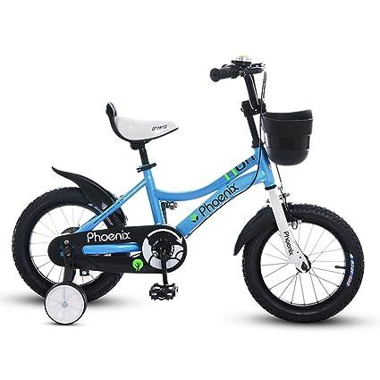 Fenfen Bicicletas para Niños 18 Pulgadas Chicas Bicicleta 5-6 Años Cochecito de bebé para