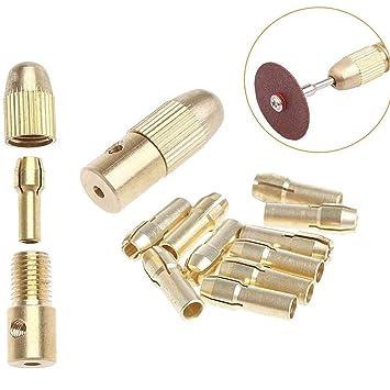 7pcs Durable Electric Drill Bit Collet Drill Adapter Twist Drill Tool Chuck Set