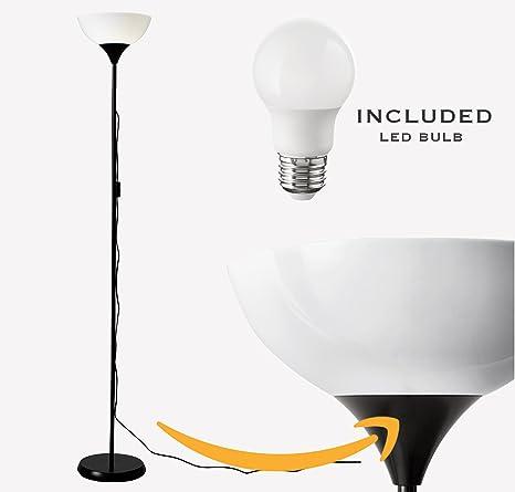 Ikea not floor lamp led light bulb included black white amazon ikea not floor lamp led light bulb included black white aloadofball Images