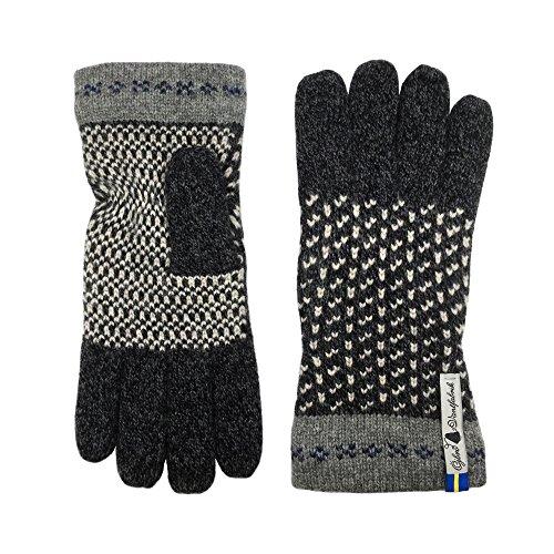 Öjbro Swedish made 100% Merino Wool Soft Thick & Extremely Warm Gloves (Medium, Skaftö Sot)