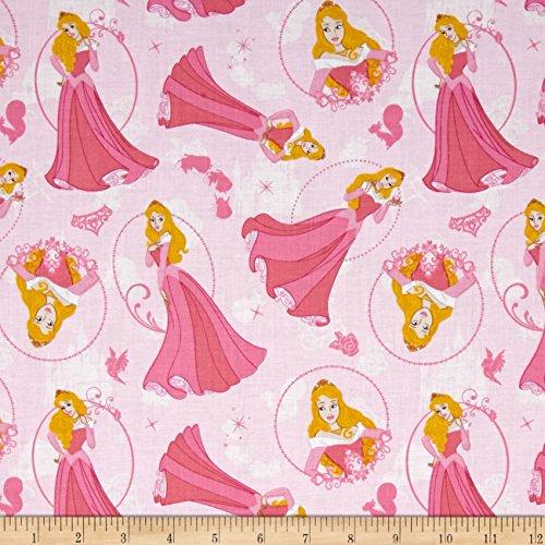 (Disney Princess Aurora Sleeping Beauty Light Pink Fabric By The Yard )