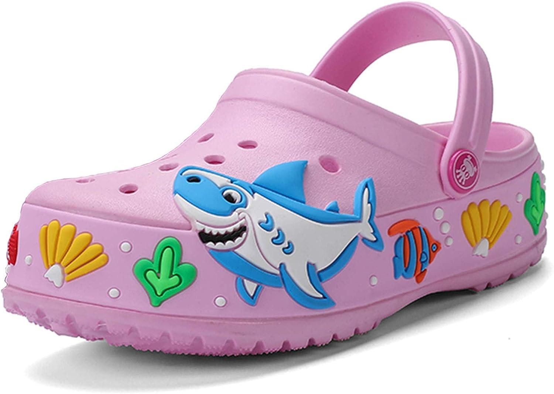 MARITONY Girls Boys Slide Sandals Kids Lightweight Slip On Shark Slippers Summer Outdoor Beach Pool Garden Clogs Shoes