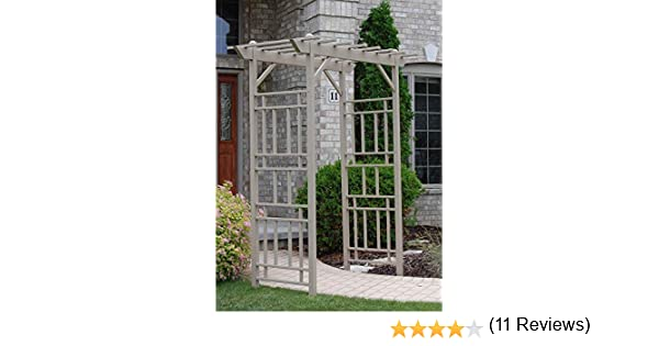 Dura-Trel Wellington 7-ft. Vinilo Pergola Arbor – Mocha: Amazon.es ...