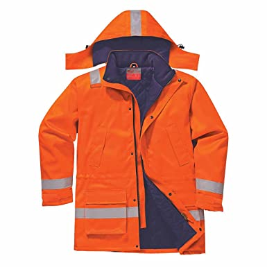 0238777c318a Amazon.com  Portwest Workwear Mens FR Winter Jacket  Clothing
