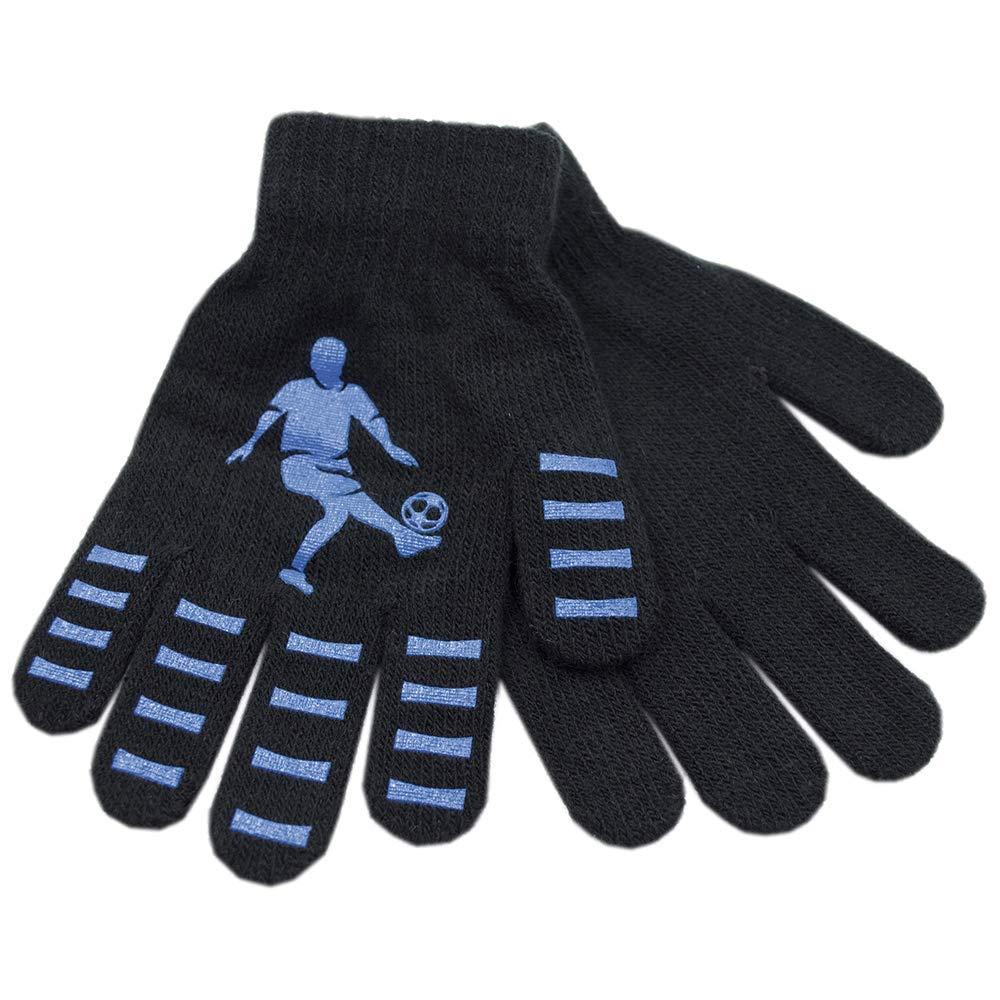 in drei Farbkombinationen erh/ältlich adam /& eesa Thermo-Handschuhe f/ür Jungen im Fu/ßballdesign warm