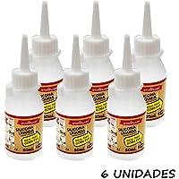 Starpast Pack de 6 Pegamentos Silicona Líquida, Transparente