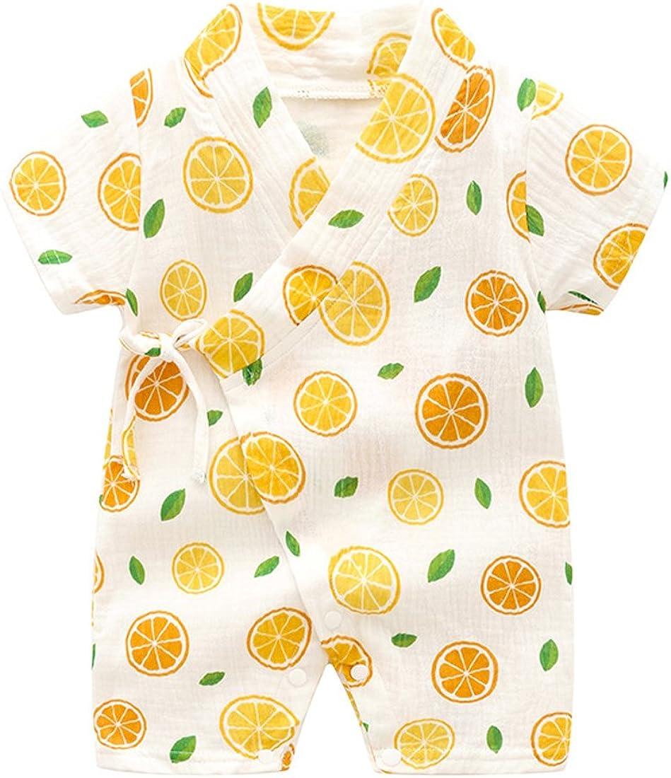 PAUBOLI Kimono Robe Newborn Cotton Yarn Robe Baby Romper Infant Japanese Pajamas